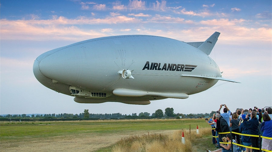 The launch of the world's longest aircraft