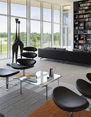 black corona chair