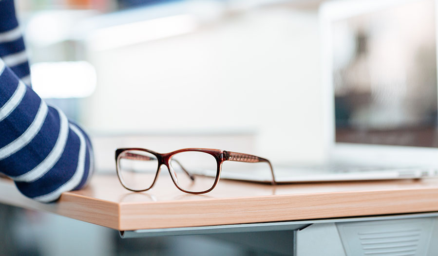 Wear glasses one day a week