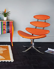 orange corona chair
