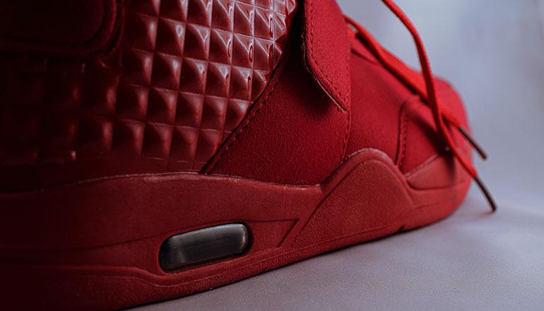 red sneaker shoe