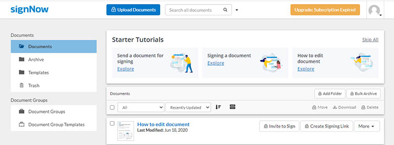 signnow tutorial