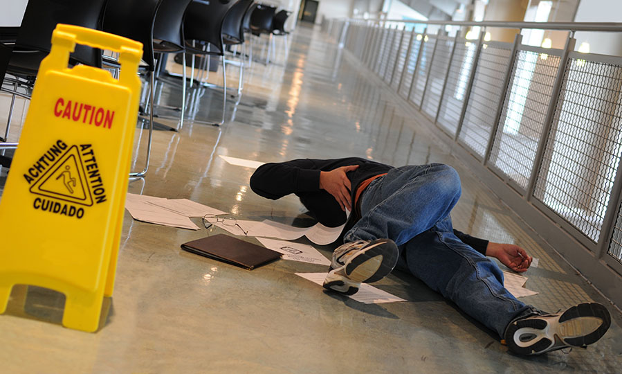 What to do in a slip and fall in your office