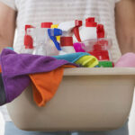 What are the benefits of using colour coding in cleaning?